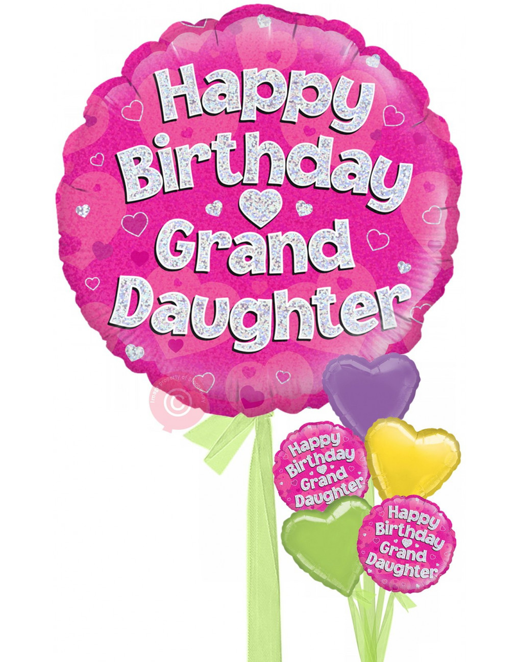 Personalised Happy Birthday Granddaughter Holographic ...