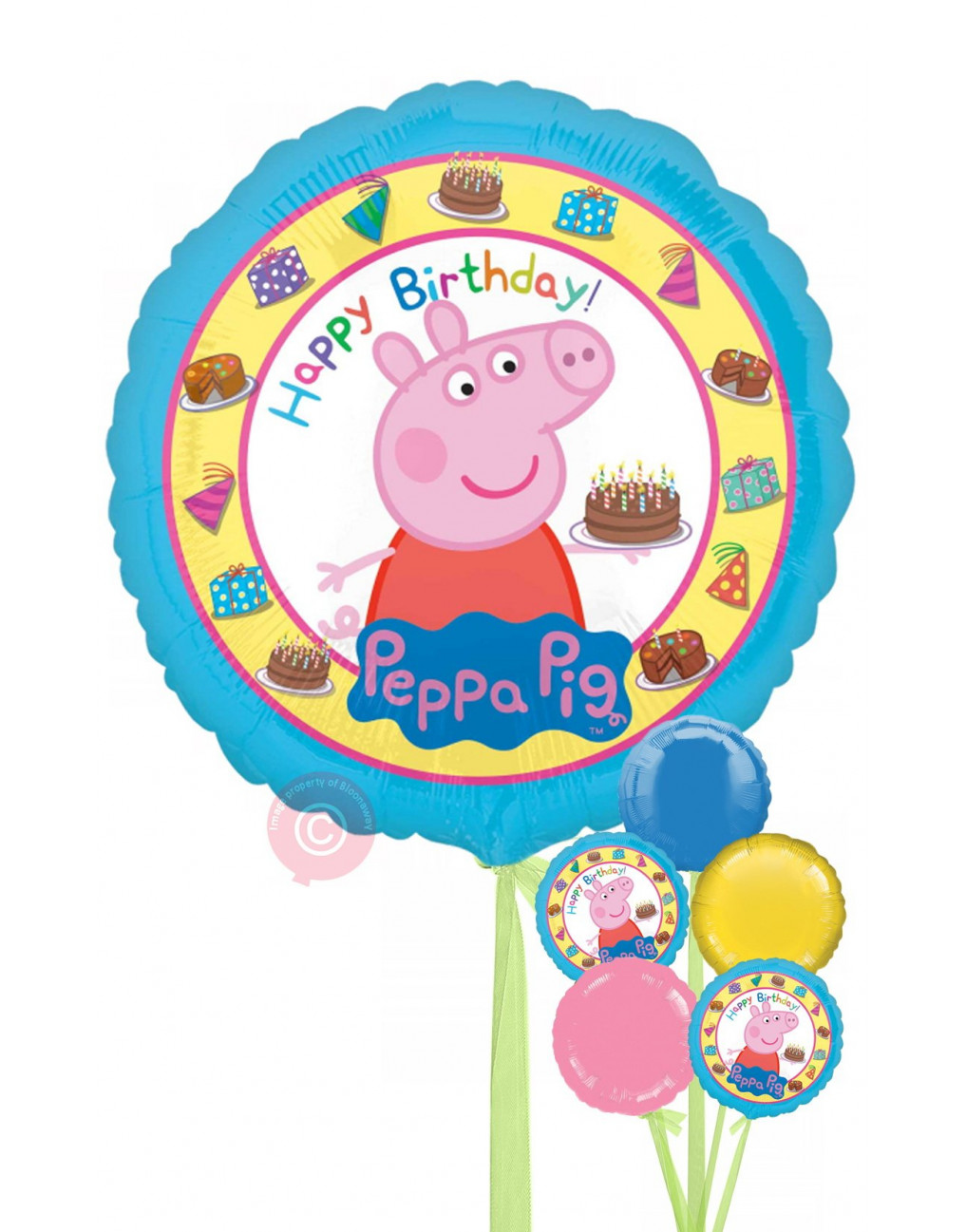 Peppa Pig Happy Birthday Balloons