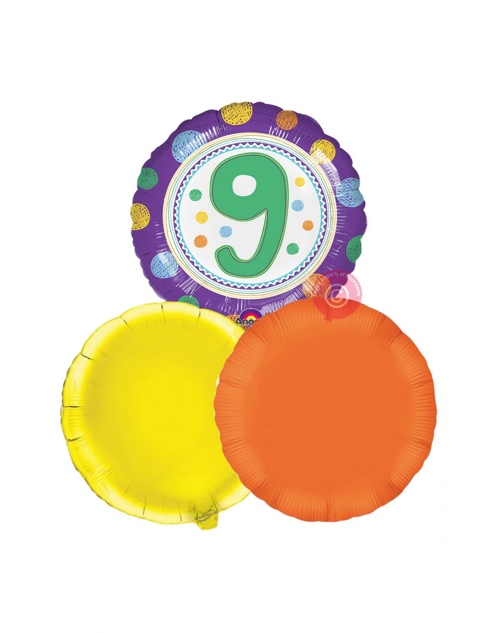 Personalised No 9 Spoton 9th Happy Birthday Balloons Delivered Inflated
