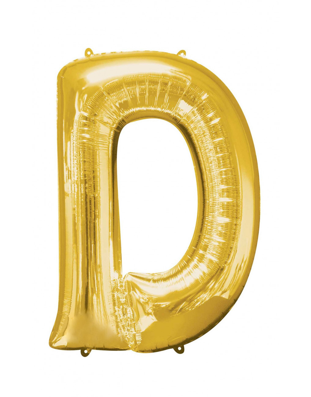 Giant Gold Helium-Letter D Balloons Delivered Inflated