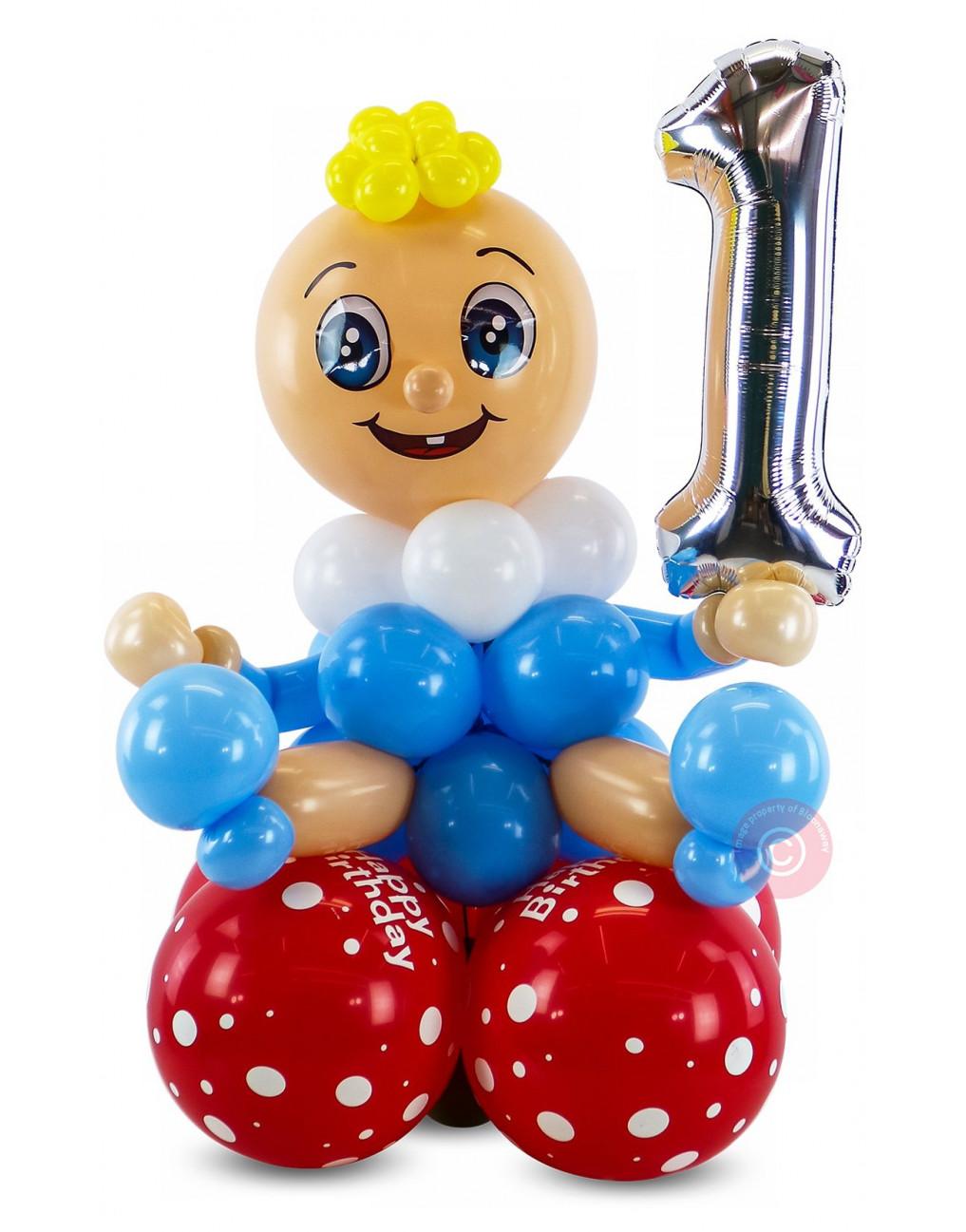 Inflated 1st Birthday Balloon Boy Balloons