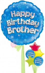 Personalised Sister/Brother Birthday Balloons Delivered Inflated