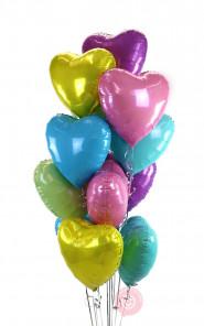 A Dozen Pastel Hearts Balloons Delivery
